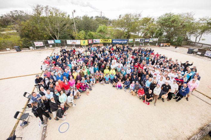 Près de 400 personnes (8 champions du monde) au tournoi de pétanque d'Amelia Island