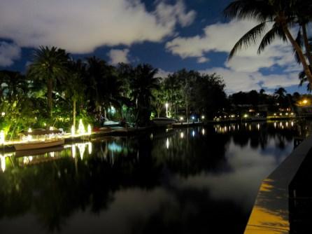 Quartier de Rio Vista la nuit, à Fort Lauderdale en Floride