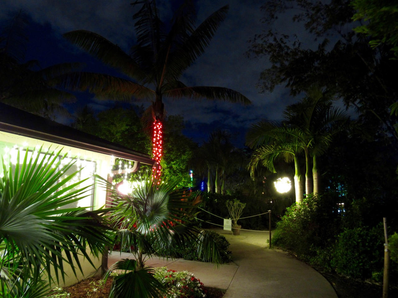 Les illuminations de Noël au Mounts Botanical Garden de West Palm Beach