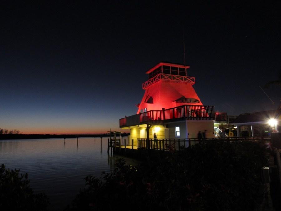 Le phare de la Stump Pass marina à Englewood en Floride