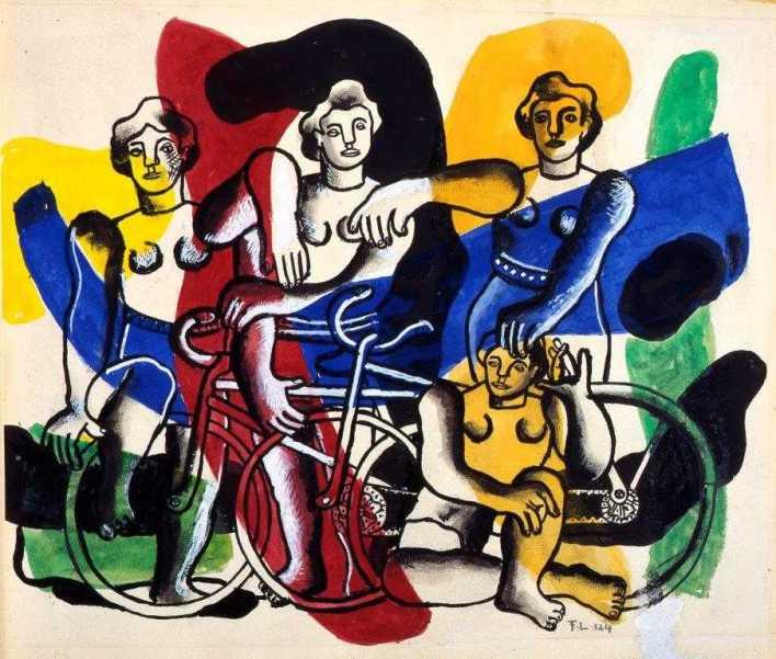 Les cyclistes de Fernand Léger.