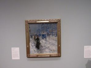 """Melting Snow"" par Childe Hassam, au Norton Museum of Art de West Palm Beach, en Floride"