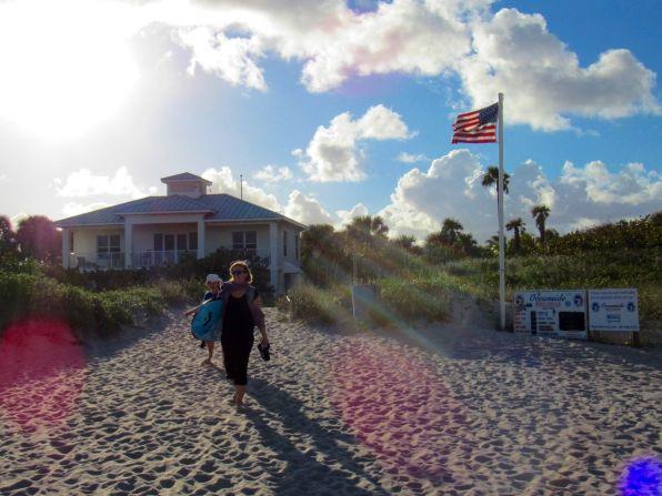 Plage de City Beach à Riviera Beach en Floride