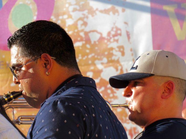 Le groupe Los 3 de La Habana au Calle Ocho Festival 2019, le Carnaval musical de Miami dans les rues de Little Havana