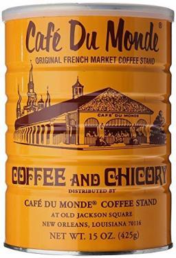 """Le fameux """"Café du Monde"""" de Louisiane contient un peu de chicorée."""