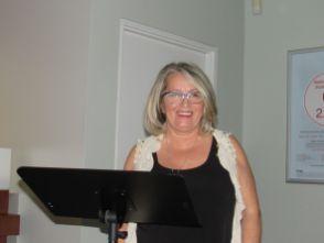 Nicole Bouchard durant la conférence Natbank sur l'immobilier en Floride