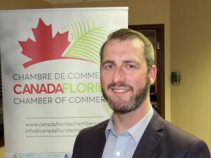 Maxime Veillette durant la 14e mission commerciale de la Chambre Canada-Floride
