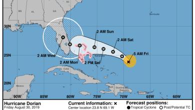 Photo of L'ouragan Dorian s'oriente désormais vers le sud Floride