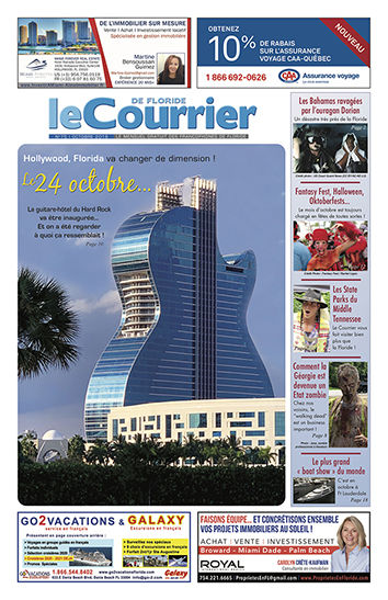 Couverture du Courrier de Floride du mois d'octobre 2019