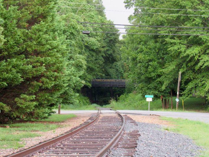 Le chemin de fer vers Terminus.