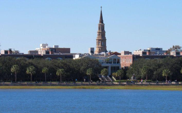 Charleston vue depuis la baie