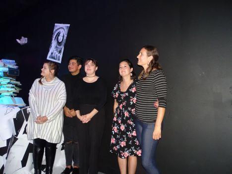 Monica Toro-Lisciandro, Zach Lutz, Corey Beattie, Yuko Deneuville et Katie Parsons du Viera Studio (Crédit photo : Diane Ledoux - Le Courrier de Floride)
