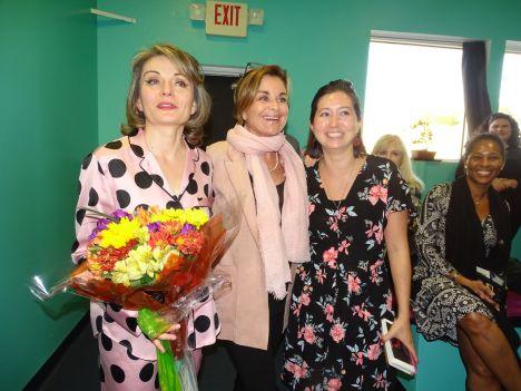 De gauche à droite : Lorelei Zarifian, Brigitte Jensen-Dagot et Yuko Deneuville (Crédit photo : Diane Ledoux - Le Courrier de Floride)