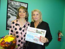 Lorelei Zarifian et Béatrice Solloway (Crédit photo : Diane Ledoux - Le Courrier de Floride)