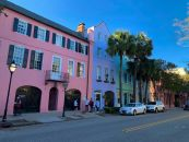 Rainbow Row à Charleston en Caroline du Sud