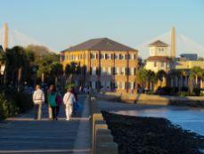 Quartier de The Battery et ses vieilles maisons à Charleston