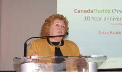 Susan Harper (consule générale du Canada) lors du gala des 10 ans de la Chambre de commerce Canada-Floride