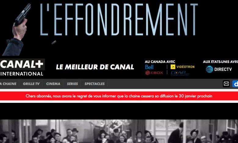 Canal + international arrête ses programmes aux Etats-Unis et au Canada