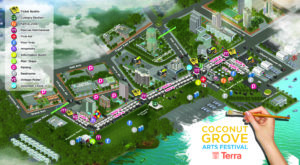 Plan du Coconut Grove Arts Festival de Miami