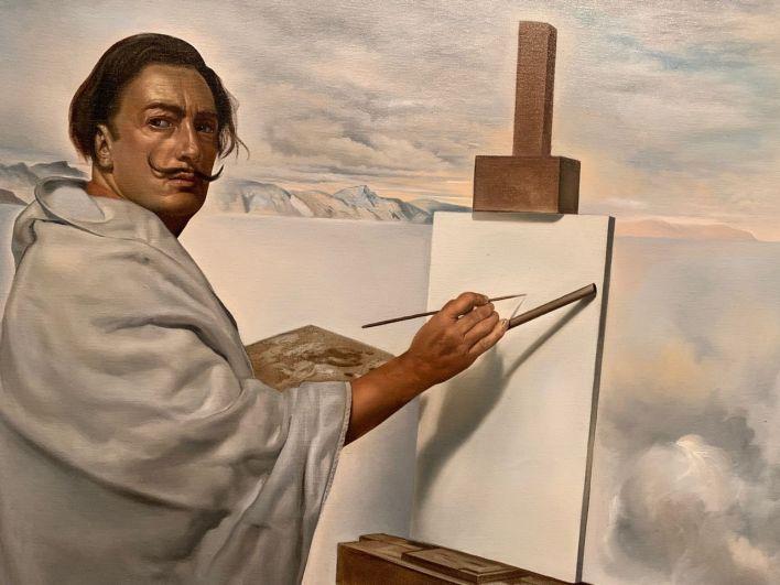 """Autoportrait de Salvador Dali (détail du """"Concile œcuménique"""")"""
