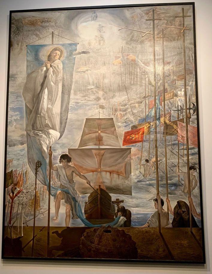 """""""La découverte de l'Amérique par Christophe Colomb"""" au Salvador Dalí Museum de St Petersburg en Floride"""