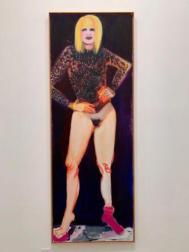 Peinture de Marlene Dumas au Rubell Museum de Miami (collection privée d'art contemporain)
