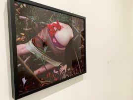 """Photo et installation joliment nommée """"Booty Bouquet"""" par Naomi Fisher au Rubell Museum de Miami (collection privée d'art contemporain)"""
