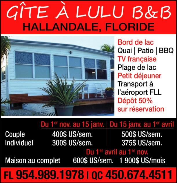 Gîte B&B Hallandale