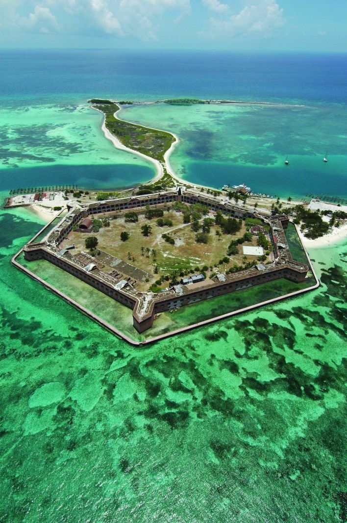 Fort Jefferson, Dry Tortugas National Park dans les Keys de Floride