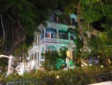 Maison la nuit sur Duval Street à Key West - Floride