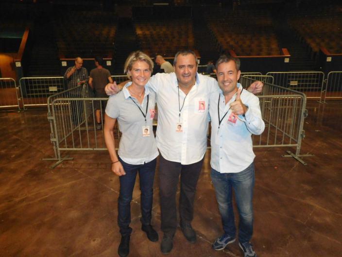 Sophie Malaquin, Franck Bondrille et Manuel Molina, d'Entourage Entertainment.