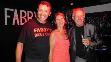 Vincent et Fabienne Berge lors de la soirée d'ouverture de leur restaurant Fabby's à Hollywood / Floride