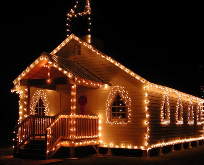 Eglise décorée pour Noël (St Landry Parish)
