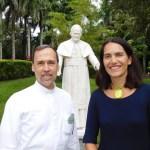 Père Alejandro Rodriguez Artola et Marie-Patricia Sanson