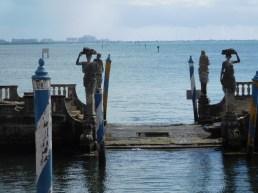La barge de pierre de la Villa Vizcaya, Miami - Floride