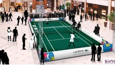 Photo of Miami Open : Lacoste ouvre un court de tennis indoor à Aventura Mall !