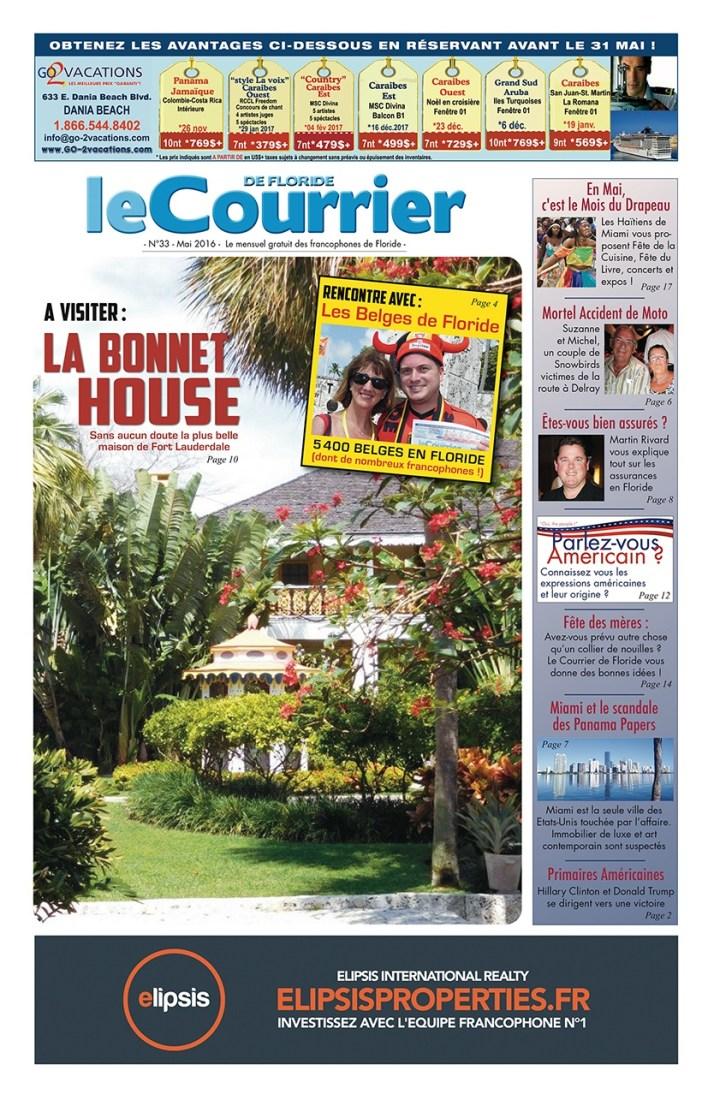Couverture du Courrier de Floride N°33 - Mai 2016