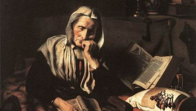 Old Woman Dozing par Nicolaes Maes (1656). Royal Museums of Fine Arts, Brussels