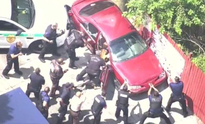 Course-poursuite et arrestation à North Miami