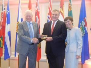 David Johnston, Andrew McIntosh, Louise Léger