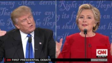 Photo of Hillary Clinton cogne fort contre Donald Trump lors du premier débat, mais le candidat Républicain résiste bien
