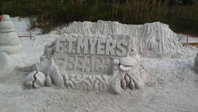 Concours de sculpture sur sable de Fort Myers Beach en Floride (crédit photo : Nathalie Lefebvre)