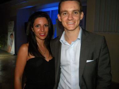 Quentin Viac et Johanna Robillard (Viac Luxury Realty) Quentin Viac (Viac Realty), lors de la soirée d'ouverture des French Weeks 2016