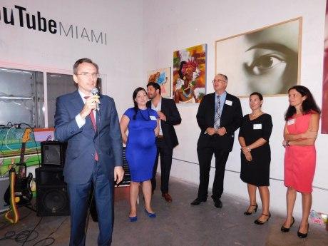 Clément Leclerc (consul général de France). Soirée Made in France Exhibit 2016 à Miami