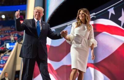 Donald et Melania Trump.