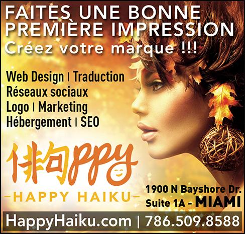 Happy Haiku : marketing et communication en Floride