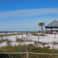 Plage sud de Lovers Key en Floride
