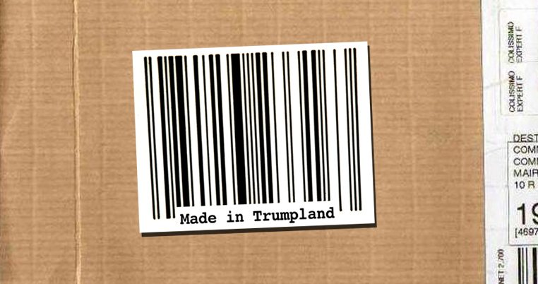 "Etiquette ""Made in Trumpland"""