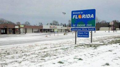 La neige arrive en Floride !