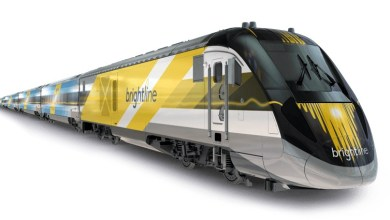 Train Brightline entre Miami et Orlando, passant par Fort Lauderdale et West Palm Beach
